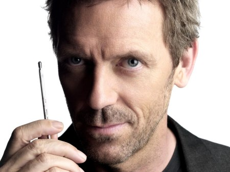 Dr Gregory House z termometrem